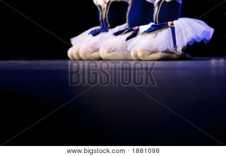 Dancers In Blue And White