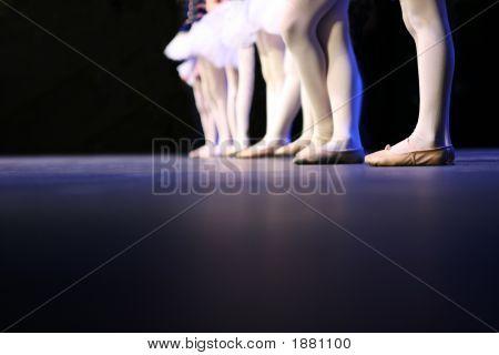 Recital Dancers Standing In A Line