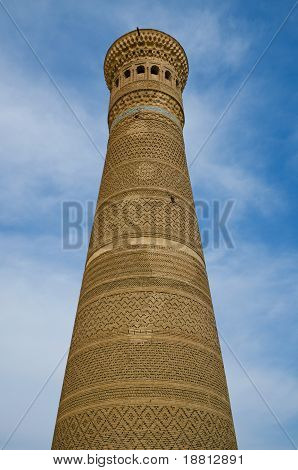 Kalon Minaret Tower in Bukhara