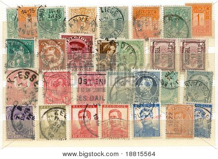 Belgian various vintage collection of postmarks