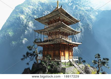 Stock photo : Buddhist Zen Temple