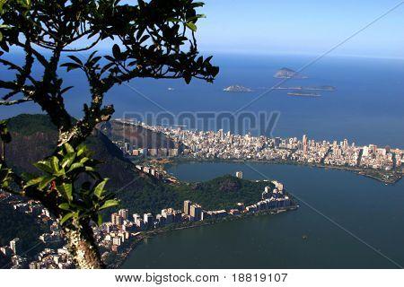 Aerial view of Ipanema, Rio de Janeiro, Brazil