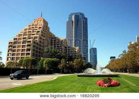 Century City is a prestigious business headquarters center of Los Angeles