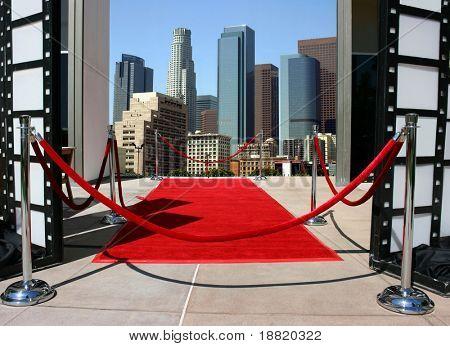 Rode loper evenement in het centrum van Los Angeles