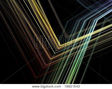 Colorful parallel lines