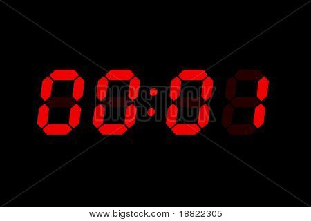 Old LCD bomb timer countdown