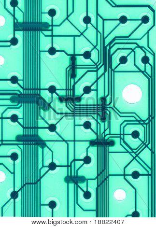 Closeup of lectronic circuit board
