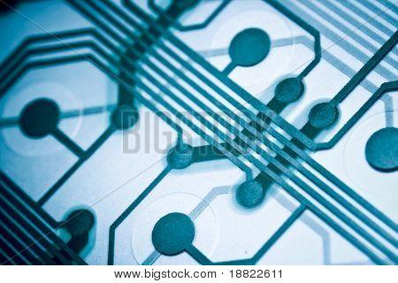 Closeup od computer circuit board