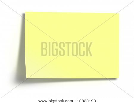 Yellow sticky memo paper