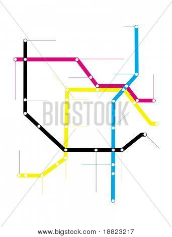 Modern city subway map