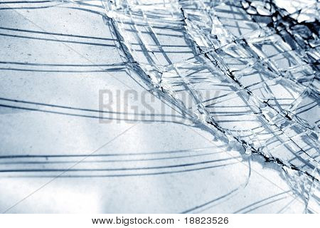 Scattered glass background