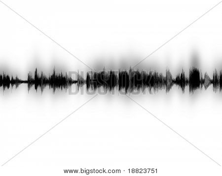 Computer sound waves image