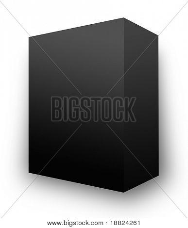 Illustrated blank black box