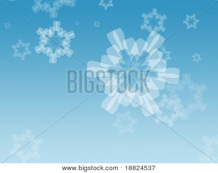Illustrated snowflakes background
