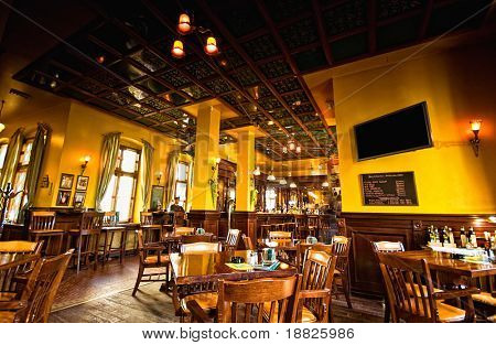 Old brittish pub interior