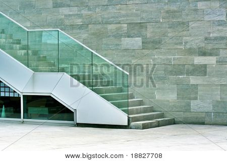 Modern stairway made of stone