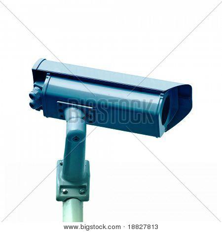 Câmera do CCTV isolado no fundo branco