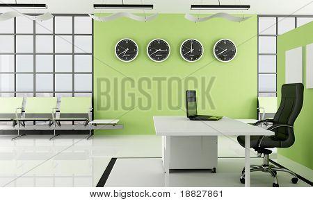 Grünen Büro mit Platz warten