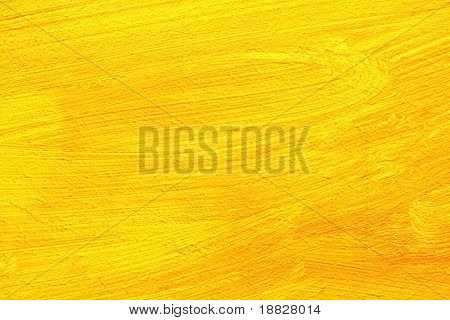 Yellow art painting closeup