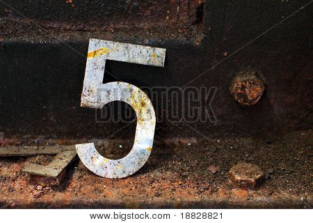 Number five in metal factory