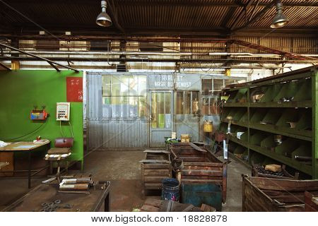 Old abandoned factory interior