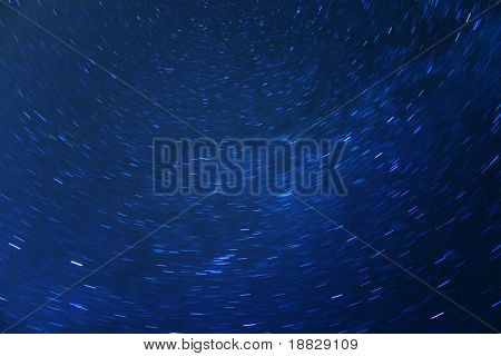 Idyllic night sky full of stars