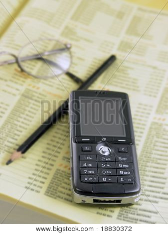 Mobile phone and phone directory