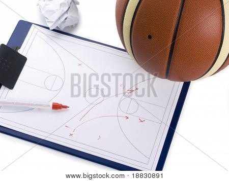 Basketball coach set