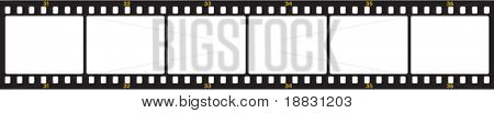 Vector de la imagen de fotogramas de la película negativa numerada