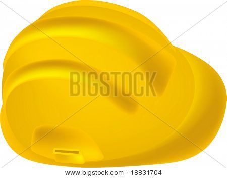 Yellow Safety Hard Hat isolated on white background