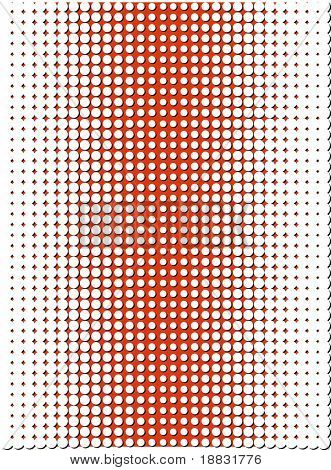 Red offset raster dot pattern