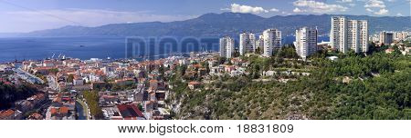 "Panoramic view of Croatian town ""Rijeka"""