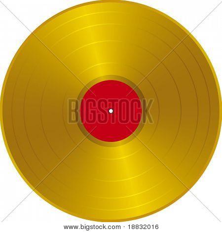 Golden LP label