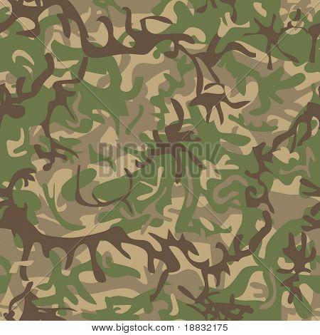 Patrón militar sin costura para la industria textil