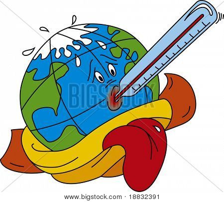 Vector illustration of Global warming