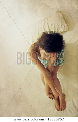Indian woman twisting hands
