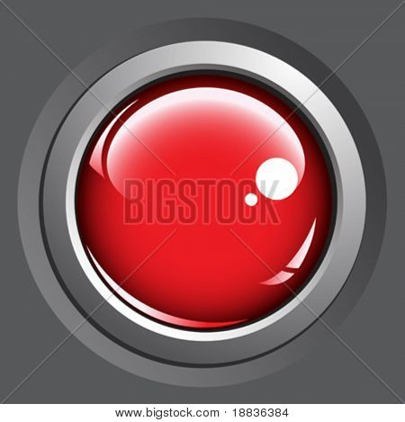 Colored buttons isolated on gray background