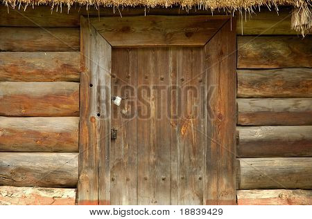 Ancient rural wooden door texture background
