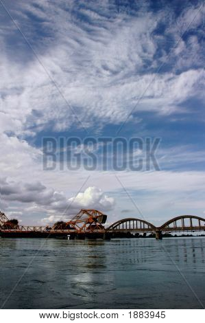 Dramatic Sky And Drawbridge