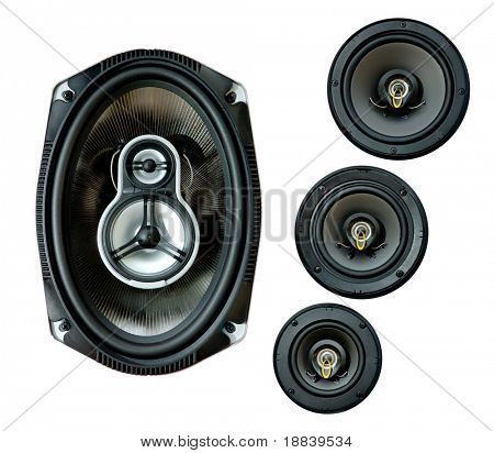 Auto audio system loud speaker for car isolated