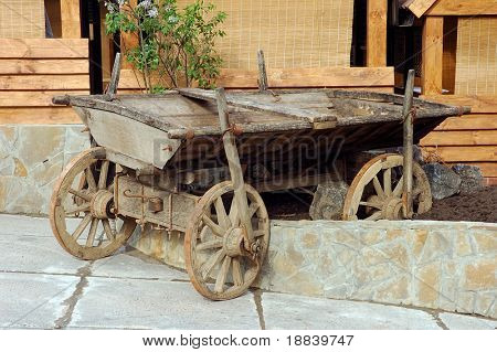Old rustic horse cart