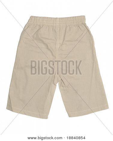 Baby boy's shorts isolated on white background