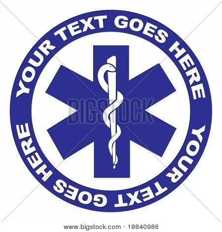 Medical symbol vector illustration isolated on white background