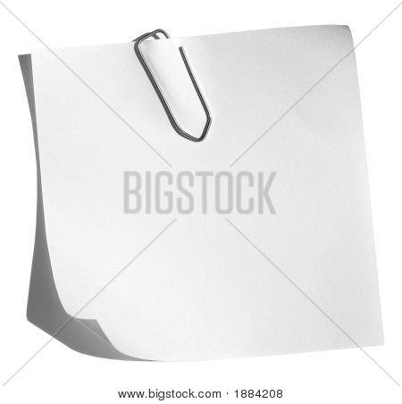 Memo With Paper Clip