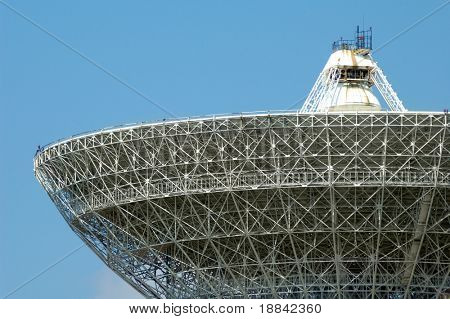 Porabolic dish at space control center close-up