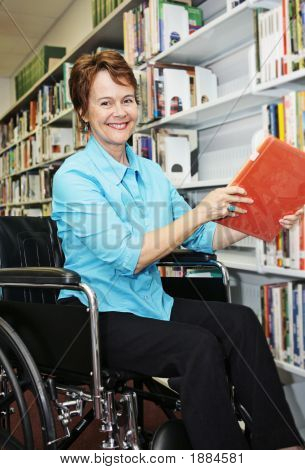 Librarian In Wheelchair
