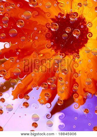 digital artwork expressing the feeling of summer, fun and joy!
