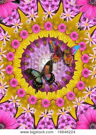 digitally created mandala