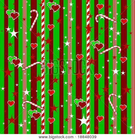 seamless graphic christmas design based on hand drawn illustrations