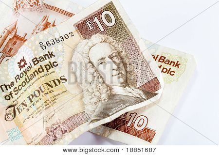 Scottish ten pound notes